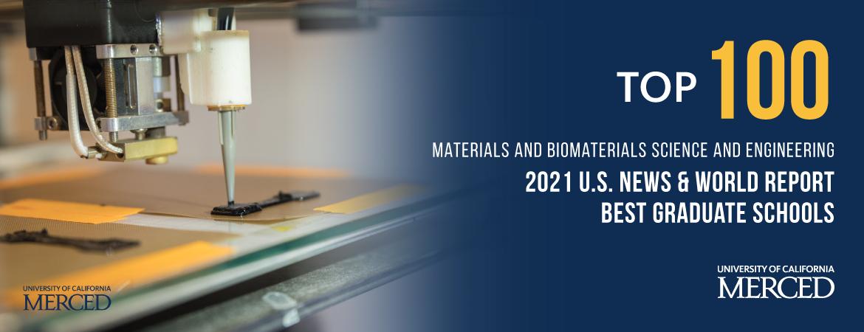 Materials Engineering ranked No. 98 in U.S. News & World Report's grad program rankings